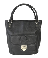 Love Moschino Pebbled Leather N/S Large Tote Bag
