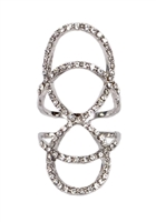 Jewelry Collection Pave Interlocking Knuckle Ring