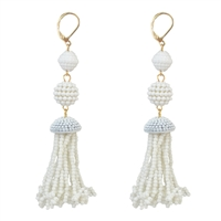 Jewelry Collection Isla Beaded Tassel Drop Earrings