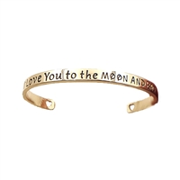 I Love You To The Moon & Back Engraved Cuff Bracelet