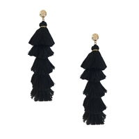 Jewelry Collection Willow Long Tassel Fringe Earrings