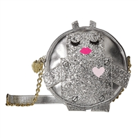 Luv Betsey Johnson Glitter Robot Round Crossbody