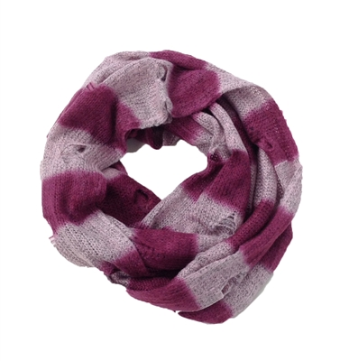 Steve Madden Striped Holey Moley Infinity Scarf Burgundy