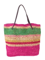 Michael Stars Calypso Straw Tote Beach Bag