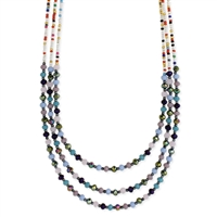 Zad Jewelry Wiki 3 Layer Beaded Bib Necklace