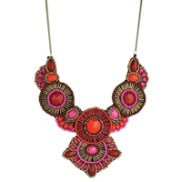 Zad Jewelry Kissa Beaded Bib Necklace