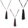 Zad Jewelry Long Beaded Tassel Necklace