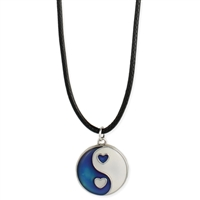 Zad Jewelry Yin Yang Mood Pendant Choker Necklace