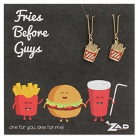 Zad Jewelry Fries Before Guys French Fry BFF Necklaces for 2