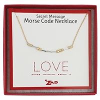 Zad Jewelry Love Morse Code Secret Message Necklace