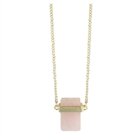 Zad Jewelry Love Stone Rose Quartz Long Necklace