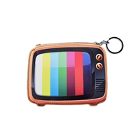 Retro TV Vintage Television Coin Purse Keyring