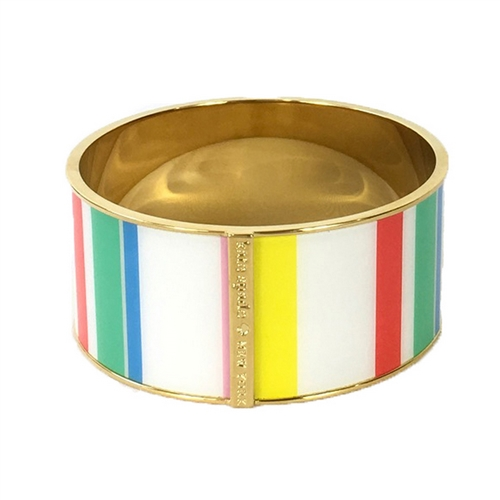 Kate Spade Dune Stripe Wide Bangle Bracelet