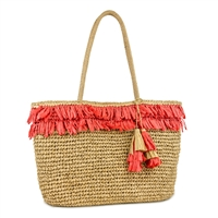 Fringe Straw Market Tote Beach Bag