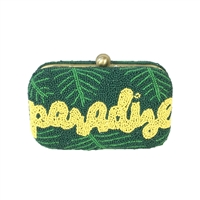 From St Xavier Paradise Beaded Box Clutch