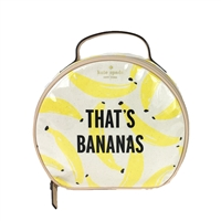 Kate Spade That's Bananas Miri Travel Train Cosmetic Case,