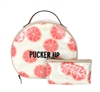 Kate Spade 'Pucker Up' Grapefruit Patsie Large Cosmetic Case Set