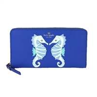 Kate Spade Seahorse Lacey Continental Zip Wallet