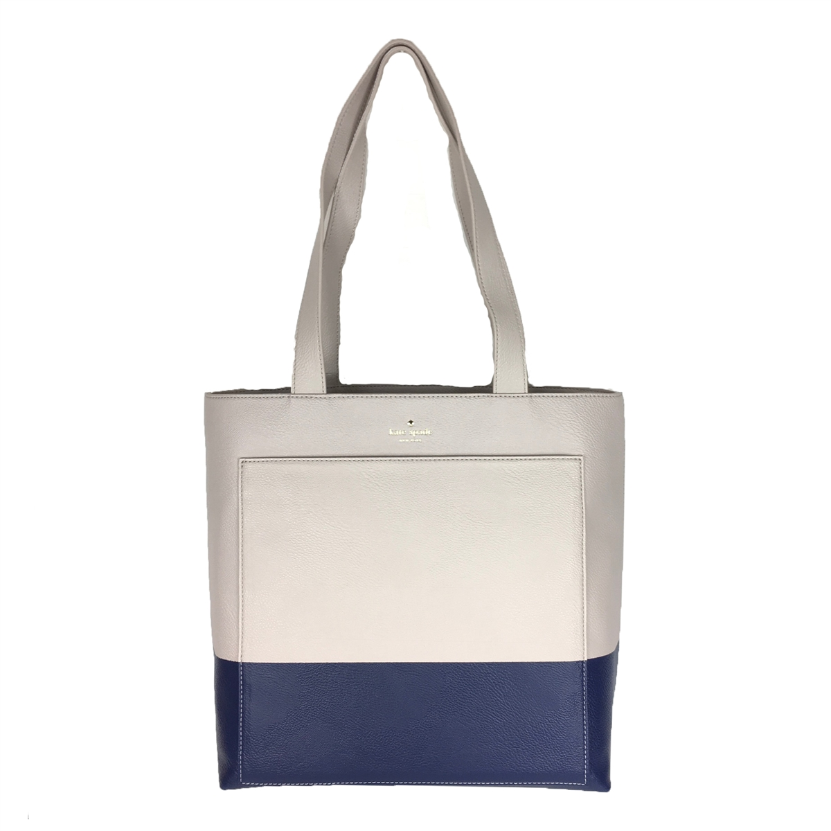 Kate Spade Lita Street Andrea Leather Tall Tote Bag, Crisp Linen ...