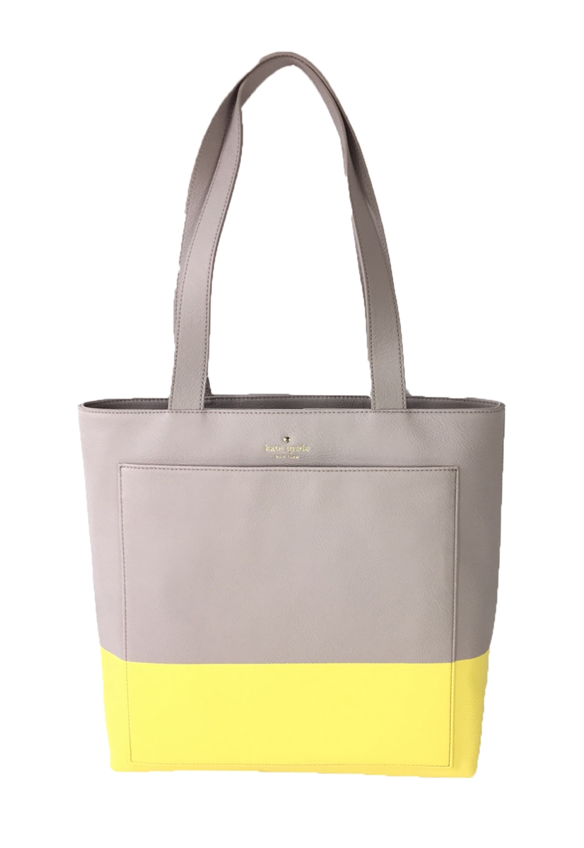 Kate Spade Lita Street Andrea Leather Tall Tote Bag, Almondine ...