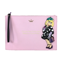 Kate Spade Disney Miss Piggy 'Fancy Friday' Britta Wristlet,