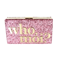 Kate Spade Who Moi? Miss Piggy Glitter Emanuelle Clutch