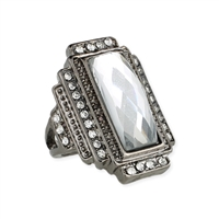 Zad Jewelry Heirloom Crystal Statement Ring