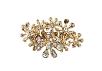 Amrita Singh Floral Burst Crystal Statement Ring