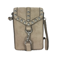 Rebecca Minkoff Rose Studded Leather Phone Crossbody