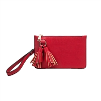 Melie Bianco Farah Vegan Leather Tassel Wristlet