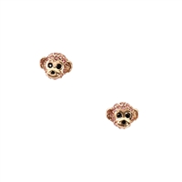 Kate Spade Pave Monkey Mini Stud Earrings