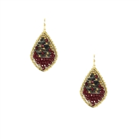 Nakamol Sophia Beaded Tear Drop Earrings