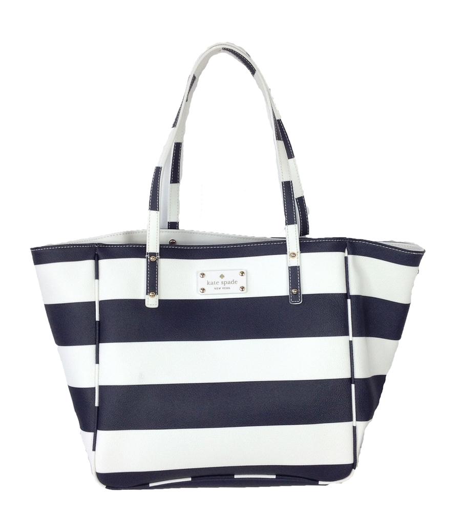Kate Spade High Falls Sidney Striped Tote Bag, Navy /White