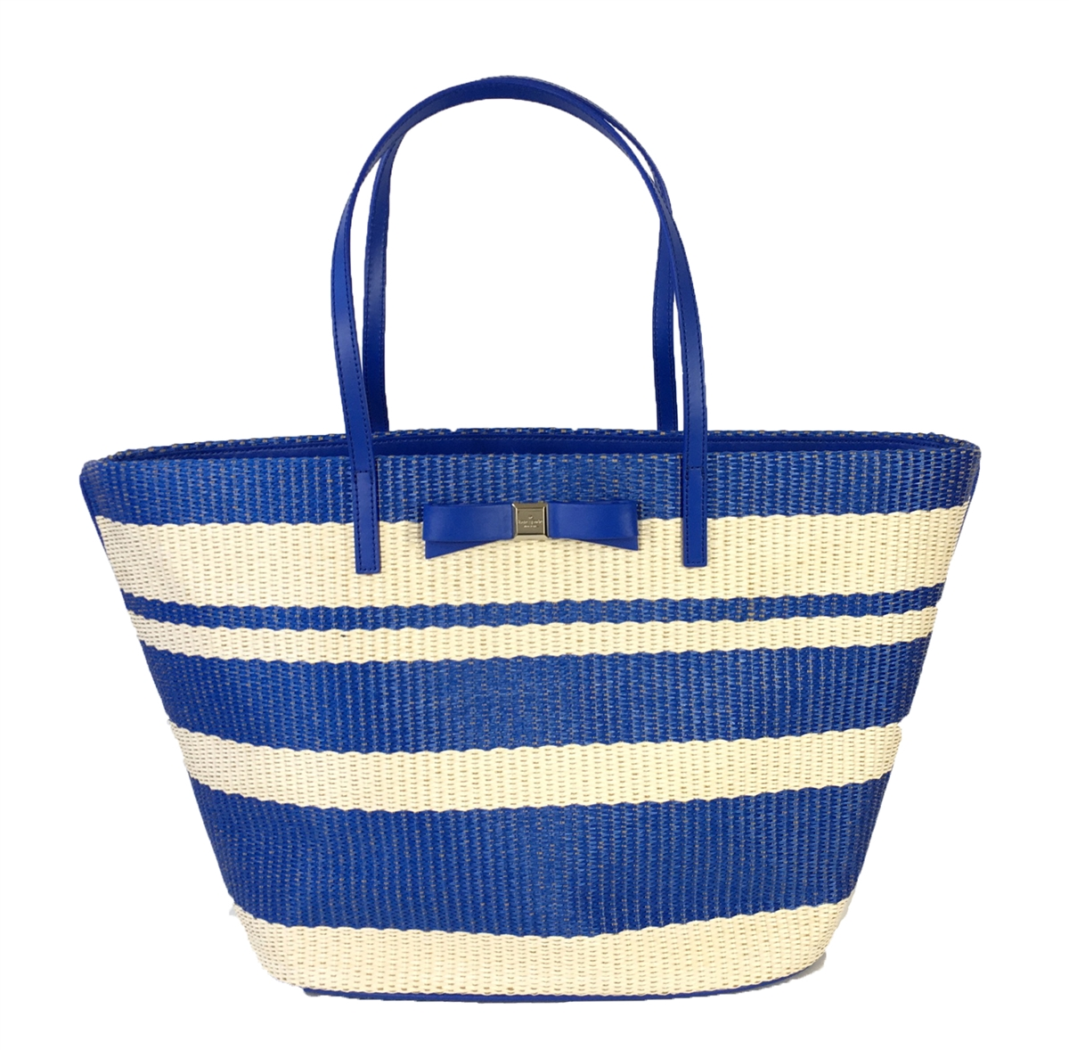 Kate Spade 'Wicklow Court' Anabette Striped Large Straw Tote Beach ...