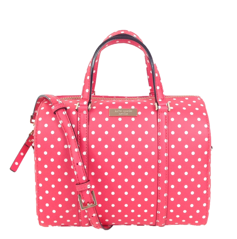 Kate spade new york grant street polka dot mini cassie desert rose junglespirit Gallery