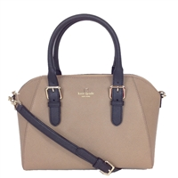 Kate Spade Crosshatched Leather Pipa Satchel