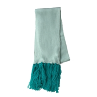La Fiorentina Colorblocked Log Fringe Scarf