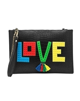Melie Bianco Love Clutch Wristlet Crossbody