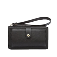 Melie Bianco Zane Vegan Leather Wristlet Wallet