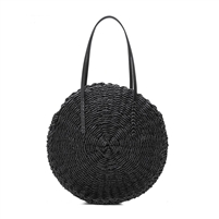 Melie Bianco Ciara Natural Straw Round Circle Bag