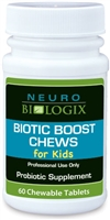 Biotic Boost Chews For Kids - Natural Cherry Flavor (60 Chewables)