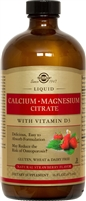 Calcium Magnesium Citrate with Vitamin D3 (Strawberry Flavor) 16 oz Liquid