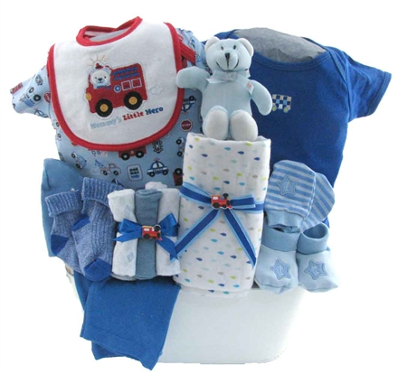baby boy gift basket 2073