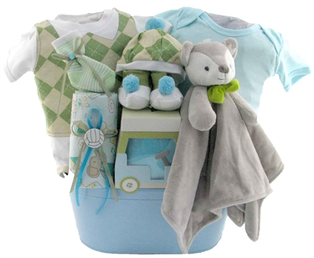 baby golf themed gift basket 2092