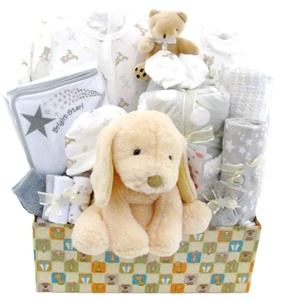 puppy baby basket