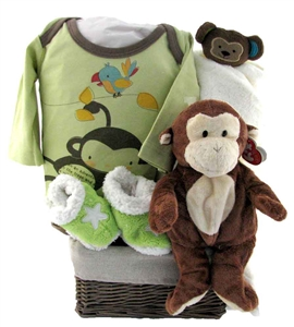 lil monkey themed baby gift