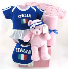 baby baskets team Italy  cheerleader