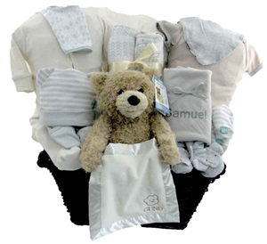 talking teddy bear baby basket