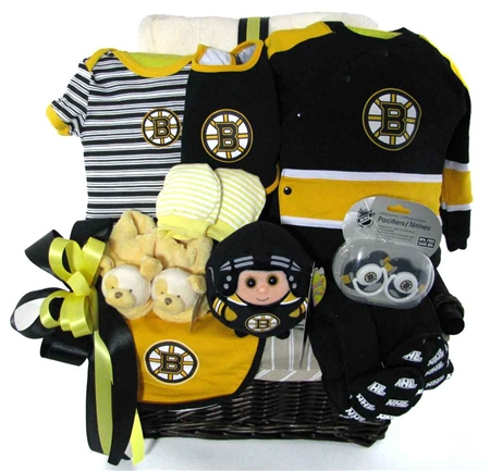 Boston Bruins Deluxe Basket