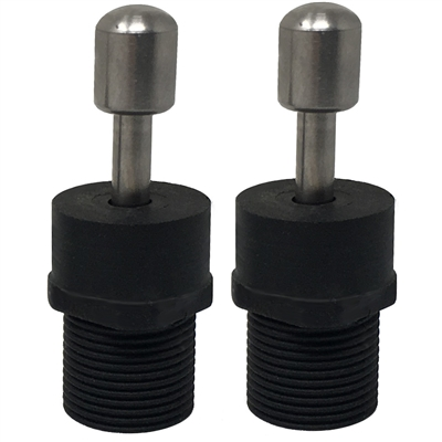 (2) Threaded Euro Style Male Adapters Speargun Band Terminals